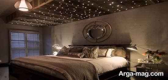 دکوراسیون زیبای سقف اتاق خواب