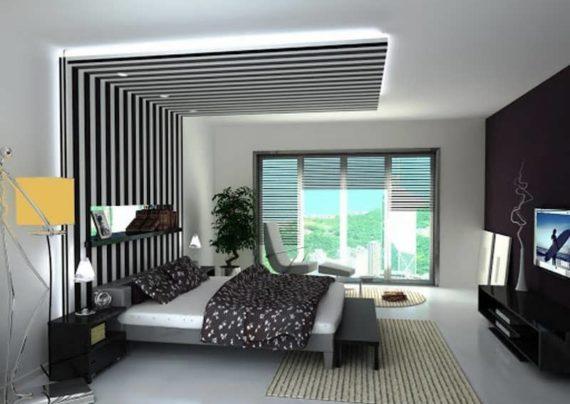 مدل تزیین سقف اتاق خواب
