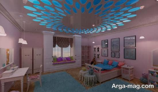 طراحی متفاوت سقف اتاق خواب