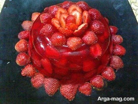 عکس خلاقیت هایی از میوه آرایی توت فرنگی توت فرنگی