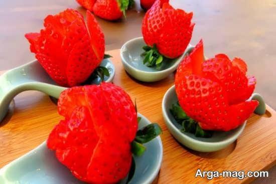 مدل تزیینات توت فرنگی با ایده جدید