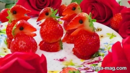تزیین فانتزی توت فرنگی