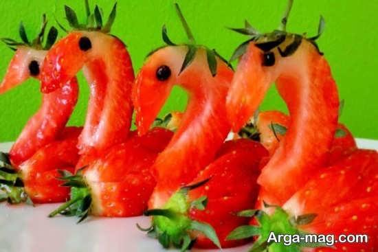 مدل تزیینات توت فرنگی با ایده زیبا