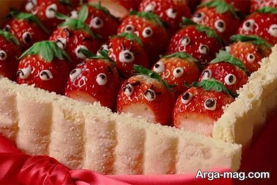 تزیینات توت فرنگی با ایده های شیک