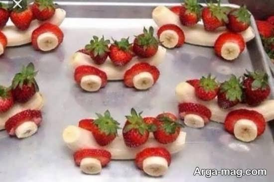 تزیینات توت فرنگی با ایده زیبا