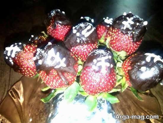 میوه آرایی توت فرنگی با ایده جدید
