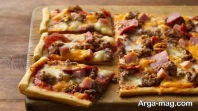 روش تهیه پیتزا قارچ و گوشت