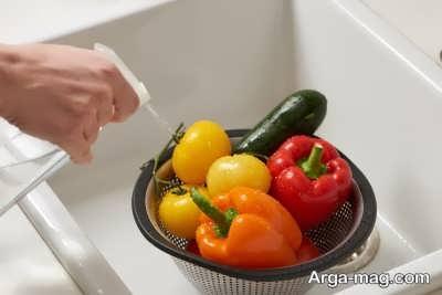 استفاده از جوش شیرین برای تهیه محلول ضدعفونی میوه و سبزیجات