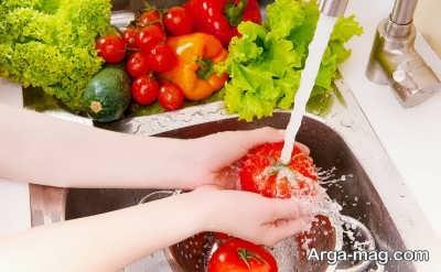 چگونگی ضدعفونی میوه و سبزیجات