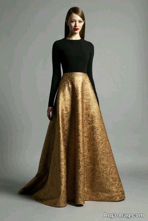 لباس مجلسی دو رنگ