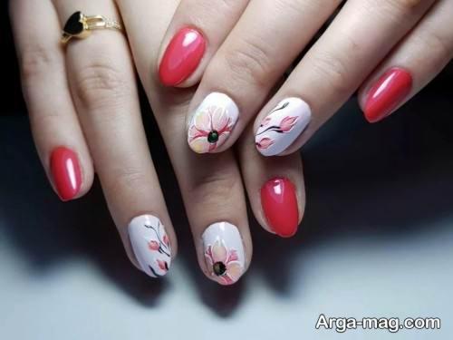 دیزاین ناخن گلدار