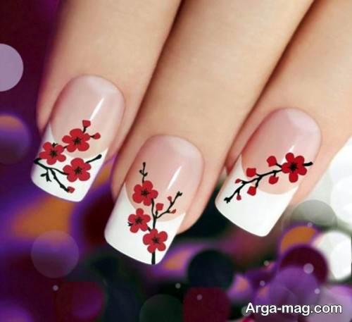 دیزاین ناخن گلدار و زیبا