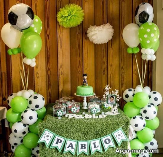 تزیین جشن تولد فوتبالی