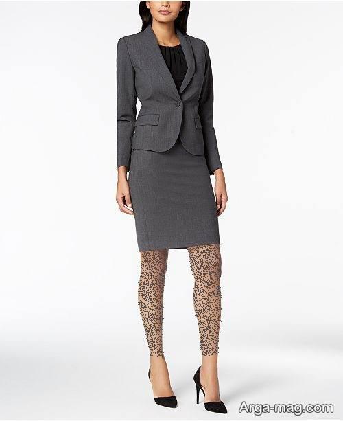 کت دامن رنگ تیره زنانه