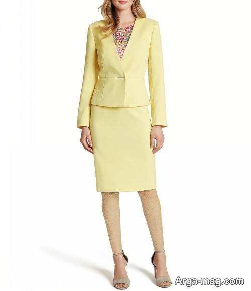 کت دامن زرد زنانه