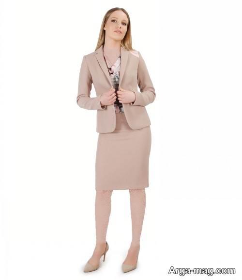 کت دامن رنگ روشن و شیک زنانه