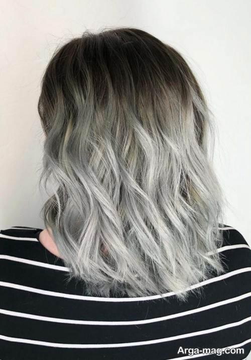 رنگ موی شیک طوسی