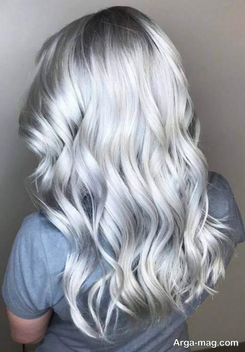 رنگ مو طوسی روشن