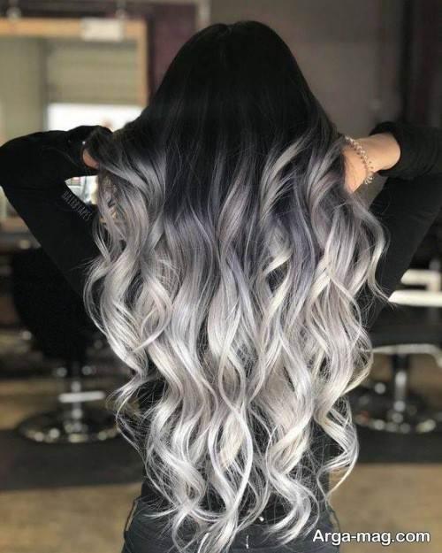رنگ مو شیک و خاص طوسی