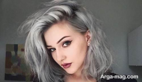 رنگ موی طوسی شیک زنانه
