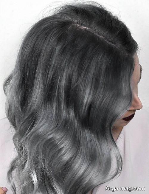 رنگ مو طوسی تیره