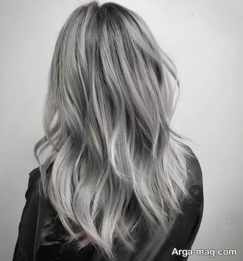 رنگ موی زنانه طوسی