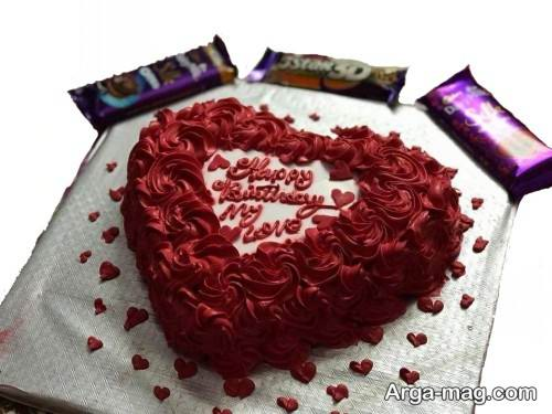 کیک زیبا قلبی