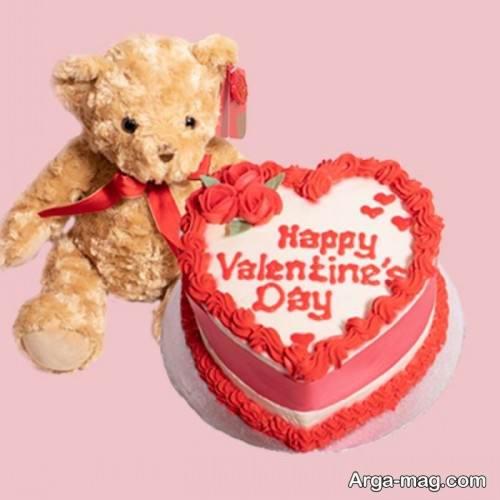 کیک قلبی برای ولنتاین