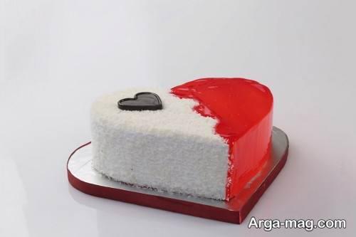 کیک قلبی جالب