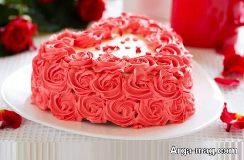 مدل کیک قلبی جالب