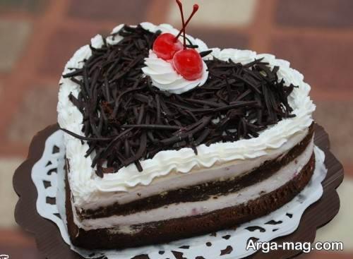 کیک قلبی زیبا