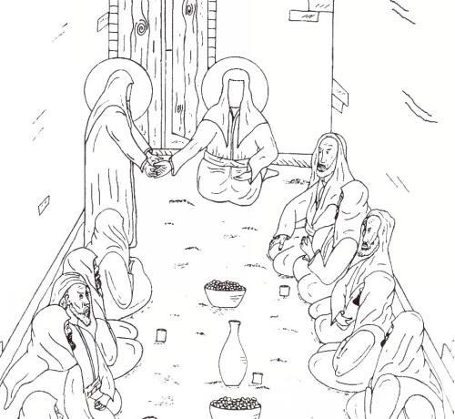 نقاشی افطاری ماه مبارک