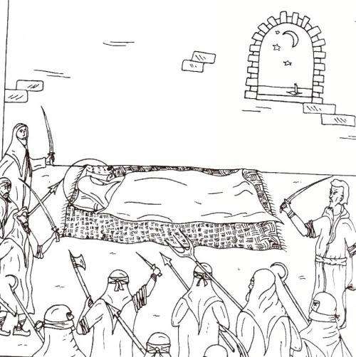 نقاشی امام علی و کفار