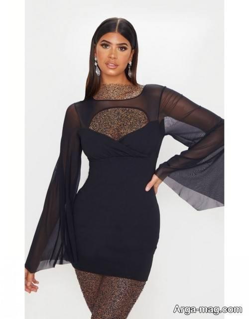 مدل لباس کوتاه توری