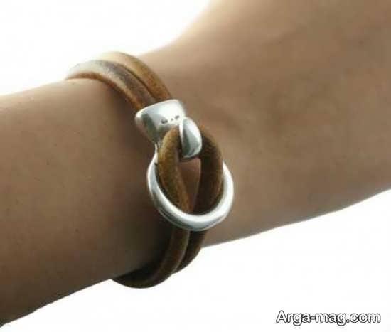 تصاویری از دستبند های چرمی شیک