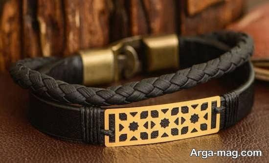 مدل دستبند چرم با طرح زیبا