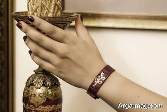 مدل دستبند چرم زنانه