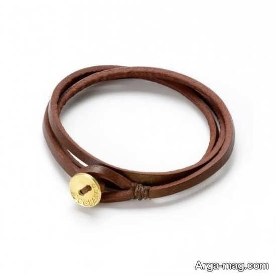 مدل دستبند چرم چند لایه