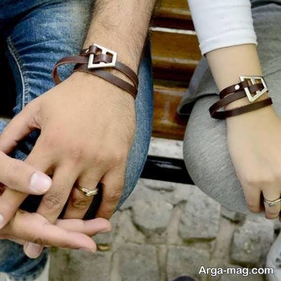 مدل دستبند چرمی ست