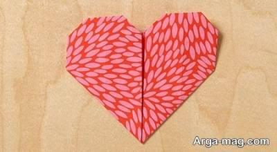 مدل قلب اوریگامی