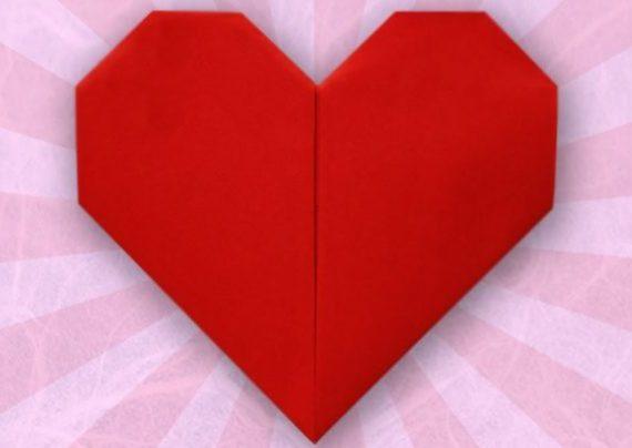 ساخت اوریگامی قلب
