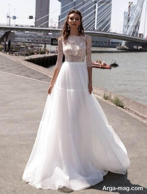 مدل پیراهن عروس زیبا روسی