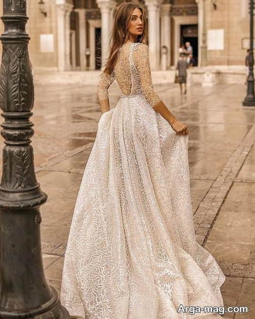 مدل پیراهن عروس روسیه ای شیک