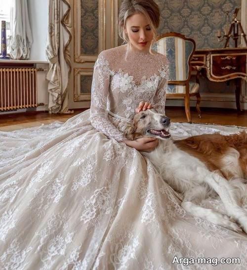 لباس عروس زیبا روسی