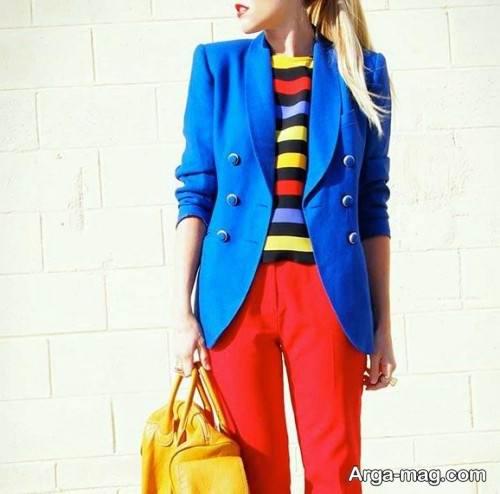 استفاده از رنگ های اصلی در پوشش