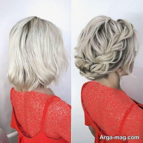 مدل شینیون موی کوتاه