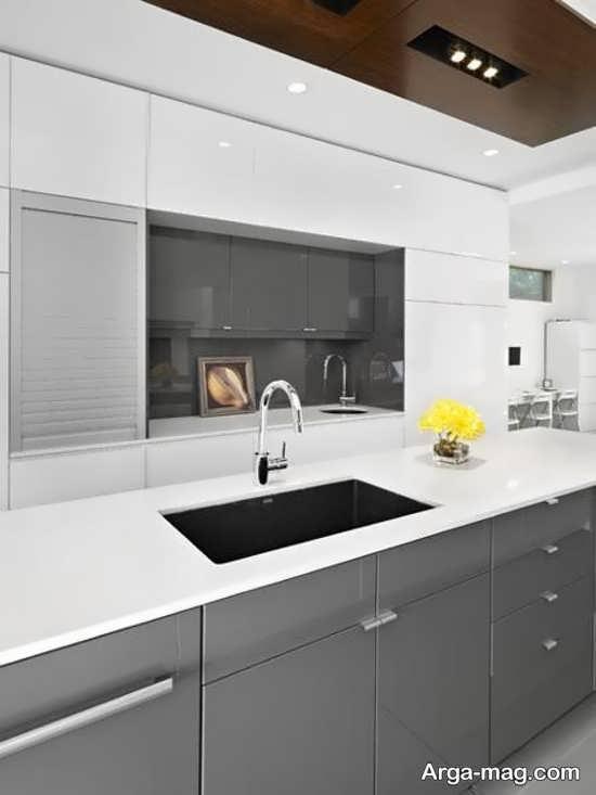کابینت اشپزخانه ساده و زیبا
