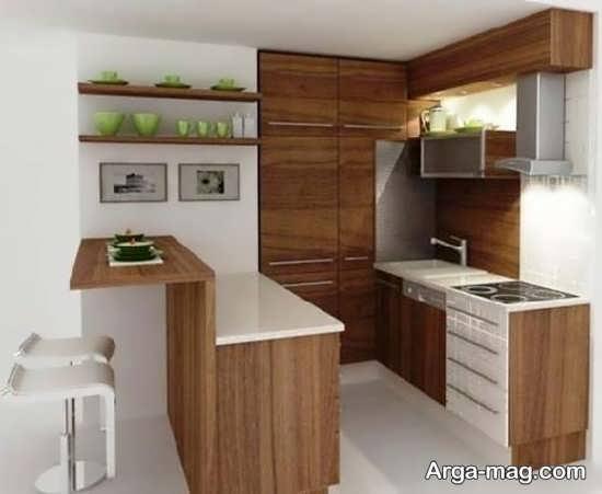 کابینت ساده با طراحی مدرن
