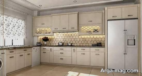 مدلی از کابینت آشپزخانه ساده