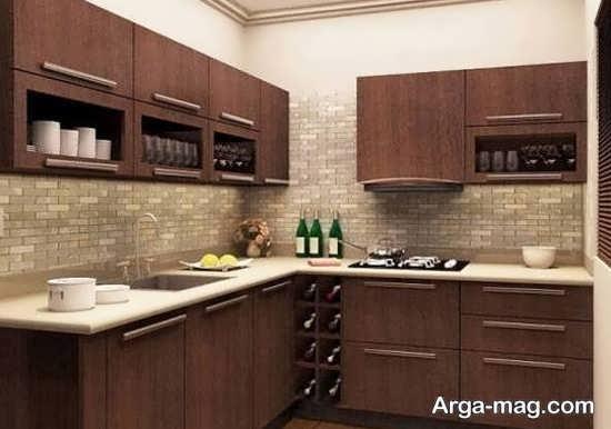 کابینت آشپز خانه ساده و شیک